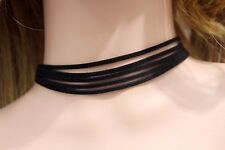 SUEDE LEATHER 6 LAYERS MULTI-LAYER WHITE CHOKER COLLAR NECKLACE SUMMER FASHION