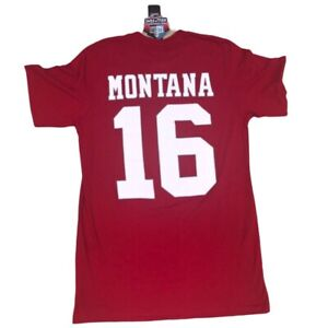Majestic San Francisco 49ers Joe Montana Hall of Fame T-Shirt NWT New Size M