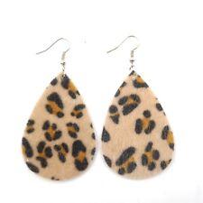 20 Colors New Glitter Sequins Teardrop PU Leather Bohemia Dangle Drop Earrings