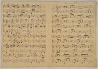 Arie aus Belisar NOTEN Musik Handschrift Original Doppelblatt um 1790 Alpenlied