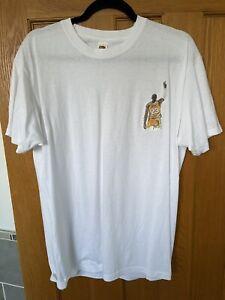 Lebron James Motif White T-shirt - Mens Large - LA Lakers Basketball NBA
