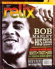 RELIX MAGAZINE BOB MARLEY PHISH WILCO BONNAROO WSP ROOTS AUG 2004 GRATEFUL DEAD