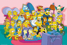 "THE SIMPSONS - TV SHOW POSTER / PRINT (THE CAST ON COUCH / SOFA) (36"" x 24"")"
