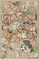 COVENTRY. Vintage town city map plan. Warwickshire 1950 old vintage chart