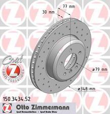 BMW E60 / E61 Série 5 paire de zimmermann disques de frein avant Sport (34116763824)