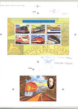 Mali #774, 778 Trains 1v M/S of 6 & 1v S/S Imperf Proofs on Collective Sheet