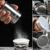 Stainless Steel Coffee Shaker Icing Sugar Salt Cocoa Chocolate Flour Sifter