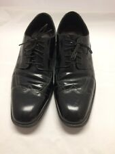 Men's Johnston & Murphy Black Leather Lace Up Wing Tip Oxford Dress Shoes 12M