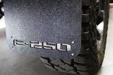 Set of F250 Mud Flaps Black Splash Guard Flat Front Rear 4 Piece for Ford F-250