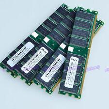 NEW 4GB KIT 4x1GB PC3200 DDR400 400Mhz 184pin Low Density Desktop memory Ram 400