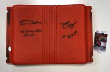 TOM OSBORNE DAMON BENNING SIGNED NEBRASKA 1996 Orange Bowl Seat JSA COA EE74147