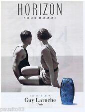PUBLICITE ADVERTISING 105  1993  GUY LAROCHE  eau toilette homme  HORIZON
