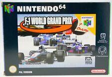F1 world grand prix-complètement dans neuf dans sa boîte Nintendo 64 n64 en boîte CIB