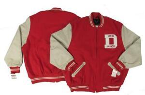 1948-49 Detroit Red Wings Mens 2XL-3XL-4XL Mitchell & Ness Varsity Jacket