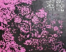 Vintage Modernist floral art print