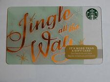 2014 - Jingle All the Way - Holiday Issue Starbucks Card - New & Never Swiped