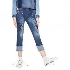 Desigual women's denim cropped slim jean size 7