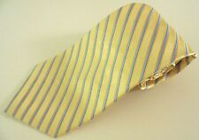 JONES New YORK Tie STRIPED Yellow MULTICOLOR Mens MEN Necktie IMPORTED Silk MAN*