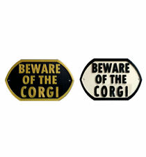 Beware Of The Corgi - 3D Printed Dog Plaque - Door Gate Garden Sign