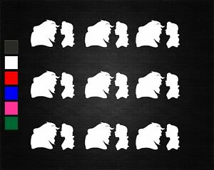 9 x BEAUTY & THE BEAST WINE GLASS JAR VINYL DECAL STICKERS PARTY/ART/CRAFTS