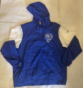 Nike Los Angeles Rams sideline hooded windbreaker Sz XL 1/4 Zip CD8770 Football