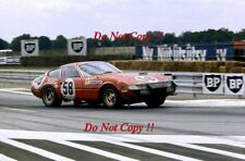 Bob Grossman & Luigi Chinetti Jr Nart Ferrari 365 GTB/4 Le Mans 1971 fotografía