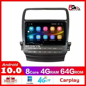 Android 10 128g octa core Car Radio Stereo For Acura TSX android auto Car GPS