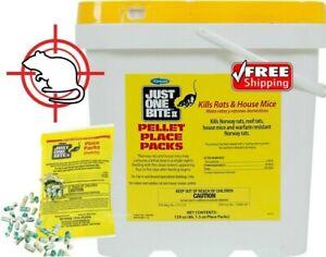 Just One Bite Pellet Place Pack Rat Mice Mouse 4,6,8,10,12 Packs 1.5 oz
