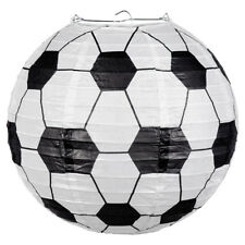 Boys Football Soccer Birthday Party Wire Frame Paper Lantern Hanging Decoration