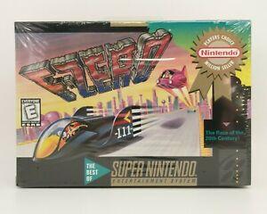 F-Zero (Super Nintendo SNES) Brand New, Factory Sealed NM