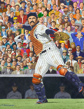 Thurman Munson New York Yankees Art Print