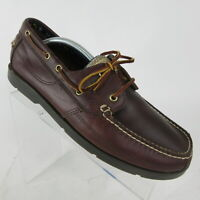 Timberland Kiawah Bay Boat Shoes Brown Leather Casual Loafers Size 10.5 W Wide