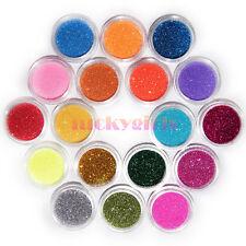 18 Pots Colors Makeup Glitter Dust Powder DIY Decorate Nail Art Acrylic UV Tip