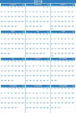 2019 Calendar - Yearly Full Wall Calendar 2019, Perfect for Organizing & January
