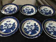 Vintage Real Old Willow A8025 Side Plates X 6""