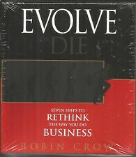 Robin Crow Evolve Or Die SEALED NEW AUDIO CD 2013 Read By The Author 4 hours 7 m