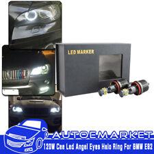 240W Total H8 CREE LED Angel Eye Halo Ring Bulbs 6000k White For BMW E90 E92 E93
