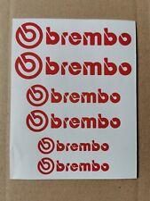 Neues Angebot6 x brembo Bremssattel Aufkleber Rot - hitzebeständig - Freie Farbauswahl