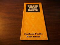 JULY 1937 SOUTHERN PACIFIC-ROCK ISLAND GOLDEN STATE ROUTE ROUTE GUIDE