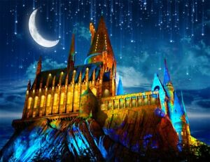 Starry Sky Moon Stars Fairytale Castle Backdrop 7x5ft Vinyl Photo Background LB