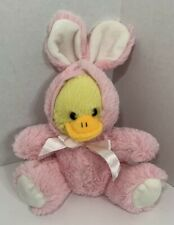 Animal Adventure Chick Duck in Pink Easter Bunny Costume rabbit pajamas 2016