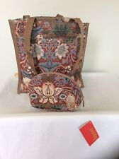 THE ART OF TAPESTRY Bird Bag & Cosmetic Pouch, Strawberry Thief, Red