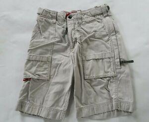 Abercrombie Boys Cotton Solid Beige Cargo Khaki Chino Shorts Youth Medium
