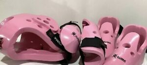 Kuma Sparring Gear- 5 Piece Pink Sparring Gear Set For Child Medium Pre-owned.