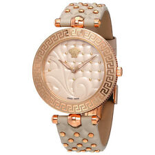Versace Vanitas Rose Gold-tone Case Black Enamel Dial Ladies Watch VK773 0017