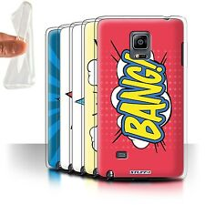 STUFF4 Gel/TPU Case/Cover for Samsung Galaxy Note Edge/N915/Comics/Cartoon Words
