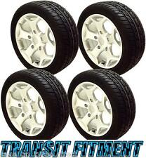 """18"""" Silver Alloy Wheels Tyres Ford Transit 2004 ST 5x160 Van Load Rated 2554518"""