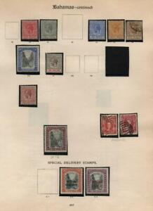 BAHAMAS: George V & Special Delivery - Ex-Old Time Collection - Page (39369)
