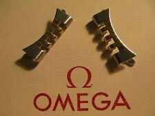 Omega Acero Inoxidable y Oro Plateado 800 X 2 enlaces final-en condición no utilizado