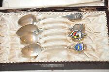 4 Stück Mokkalöffel aus 800er Silber in Schatulle